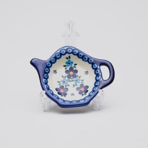 ティーバッグトレイ[V324-B203]【ポーリッシュポタリー[ポーランド食器・陶器]】|kersen