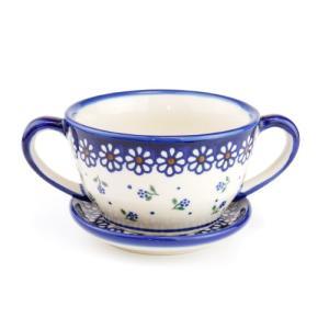 スープカップ&ソーサー[V426-C022]【ポーリッシュポタリー[ポーランド食器・陶器]】|kersen