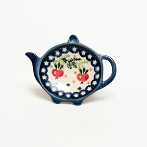 ティーバッグトレイ[W909-133]【ポーリッシュポタリー[ポーランド食器・陶器]】|kersen