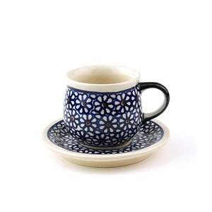 エスプレッソカップ&ソーサー[Z1121-1117-120]【ポーリッシュポタリー[ポーランド食器・陶器]】|kersen