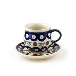 エスプレッソカップ&ソーサー[Z1121-1117-41]【ポーリッシュポタリー[ポーランド食器・陶器]】 kersen