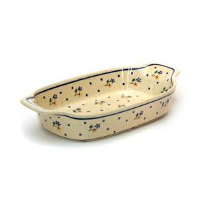 ハンドル付きオーブン皿[Z1281-111]【ポーリッシュポタリー[ポーランド食器・陶器]】|kersen