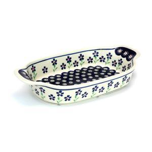 ハンドル付きオーブン皿[Z1281-912]【ポーリッシュポタリー[ポーランド食器・陶器]】|kersen