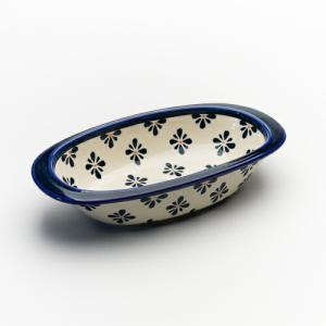 オーブン皿(グラタン皿)・オーバル・小[Z227-227A]【ポーリッシュポタリー[ポーランド食器・陶器]】 kersen