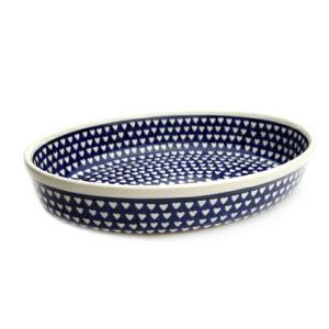 オーブン皿(グラタン皿)・オーバル・大[Z349-1044]【ポーリッシュポタリー[ポーランド食器・陶器]】 kersen