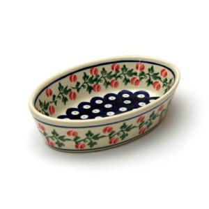 オーブン皿(グラタン皿)・オーバル・ミニ[Z703-1004]【ポーリッシュポタリー[ポーランド食器・陶器]】 kersen