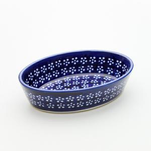 オーブン皿(グラタン皿)・オーバル・ミニ[Z703-226A]【ポーリッシュポタリー[ポーランド食器・陶器]】|kersen