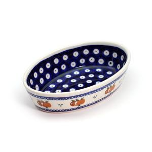 オーブン皿(グラタン皿)・オーバル・ミニ[Z703-479]【ポーリッシュポタリー[ポーランド食器・陶器]】 kersen