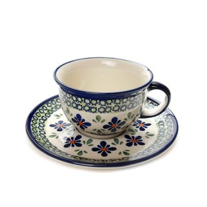 カップ&ソーサー[Z775-836-DU60]【ポーリッシュポタリー[ポーランド食器・陶器]】|kersen
