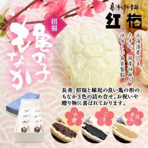 紅梅「招福 亀の子もなか」−3種類のもなかが4個ずつ個包装!1箱12個入り|kesennu-market