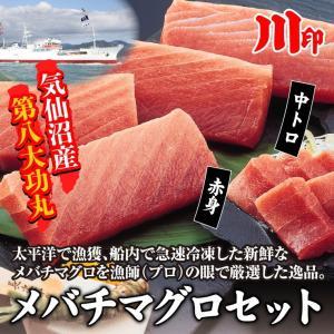 まぐろ メバチマグロセット 気仙沼ブランド 中トロ 赤味 お刺身セット(村田漁業) kesennu-market