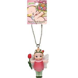 ローズオニールキューピー人形 マスコットキーチェーン スプリング 春,蝶,チューリップ|kewpie