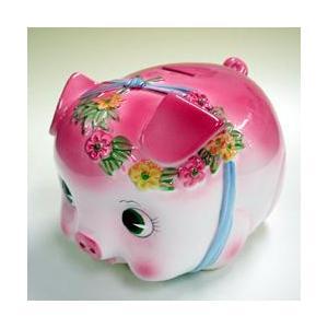 豚の貯金箱 ピギーバンク ブタバンク 特大 ピンク Piggy Bank|kewpie