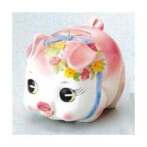 豚の貯金箱 ピギーバンク ブタバンク 中 ピンク Piggy Bank|kewpie