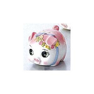 豚の貯金箱 ピギーバンク ブタバンク 豆 ピンク Piggy Bank|kewpie