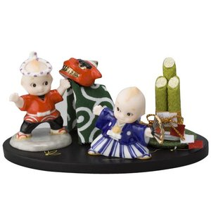 ローズオニールキューピー人形 キューピー歳時記フィギュアセット1月 お正月 獅子舞 門松|kewpie