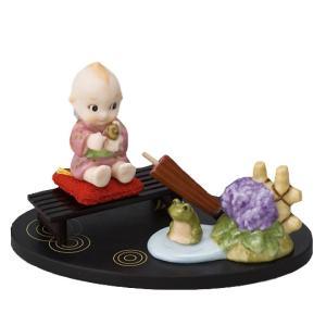 ローズオニールキューピー人形 キューピー歳時記フィギュアセット6月 梅雨 アジサイ|kewpie