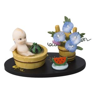 ローズオニールキューピー人形 キューピー歳時記フィギュアセット8月 水浴び スイカ アサガオ|kewpie