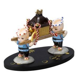 ローズオニールキューピー人形 キューピー歳時記フィギュアセット10月 秋祭り お神輿|kewpie