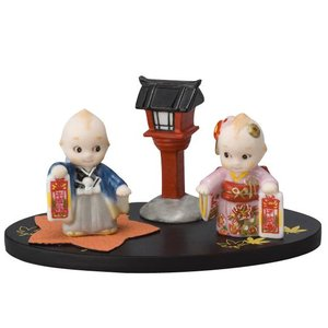 ローズオニールキューピー人形 キューピー歳時記フィギュアセット11月 七五三 千歳飴|kewpie