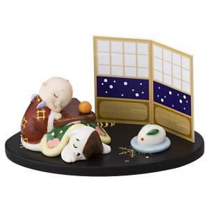 ローズオニールキューピー人形 キューピー歳時記フィギュアセット12月 こたつでうたた寝 キューピードッグ|kewpie