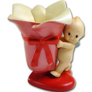 ローズオニールキューピー人形 フラワーアレンジポット|kewpie
