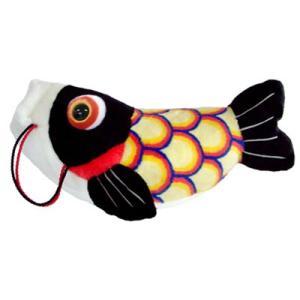 五月人形 こいあそび M ブラック 鯉のぼり ぬいぐるみ|kewpie