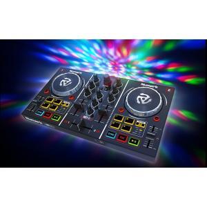 Party Mixは、簡単な操作で本格的なDJミックスが可能な、コンパクトな2デッキDJコントローラ...