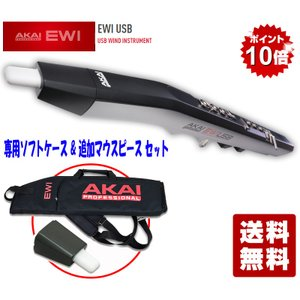 AKAI professional EWI USB - USB WIND INSTRUMENT (EWI-USB) EWI-016 専用ソフトケース&追加マウスピースセット key