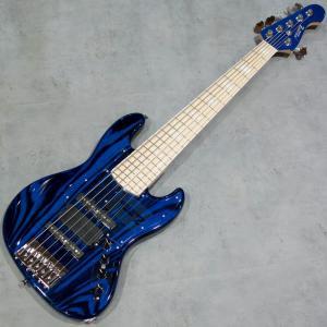 6弦エレキベース アトリエZ ATELIER Z M285 PLUS CUSTOM TP-BLU MH BURNER key