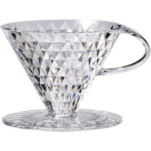 コーヒー器具 Noi クリスタルドリッパー 円すい形 1-4人用×1個 キーコーヒー