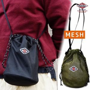 バッグ ショルダーバッグ 巾着 きんちゃく メッシュ スポーツ レディース メンズ HolidayA.M.-133|keys