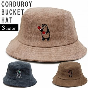 帽子 ハット HAT バケットハット メンズ レディース コーデュロイ アニマル 刺繍 キーズ Keys-219 keys