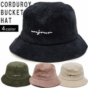 帽子 ハット HAT バケットハット メンズ レディース コーデュロイ アウトドア 刺繍 ロゴ キーズ Keys-222 keys