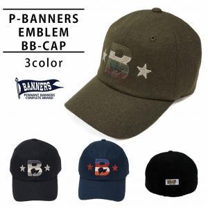 帽子 キャップ メンズ レディース ベースボールキャップ 刺繍 秋 冬 ウール ペナントバナーズ PENNANTBANNERS PB-028|keys