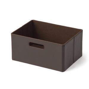 KEYUCA(ケユカ) 収納ボックス 収納ケース | Flappo たためるBOX S BR|keyuca