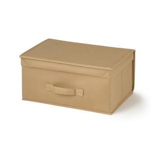 収納ボックス フタ付き | Folde たためるフタ式BOX ベージュ KEYUCA(ケユカ)|keyuca