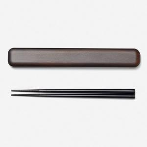 お箸セット お箸ケース | ほっこり 箸セット ブラウン KEYUCA ケユカ