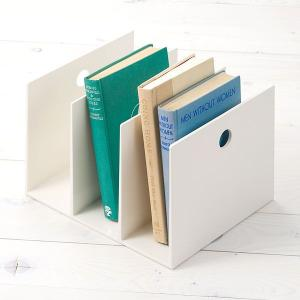 仕切りと底が一体となっていますので、安定して本を収納できる国産のブックスタンド。シンプルな形とさわや...