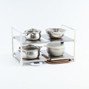 KEYUCA(ケユカ) キッチンラック 卓上ラック キッチンスタンド 鍋置き キッチン収納 | arrots 伸縮ラック 送料無料|keyuca