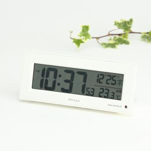 電波時計 置き時計 置時計 デジタル 温度計付き電波時計 夜間自動点灯 | neom 電波クロック KEYUCA(ケユカ)|keyuca
