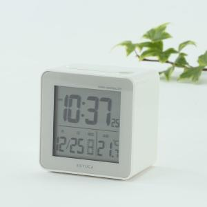 置き時計 電波時計 | cube 電波クロック ホワイト KEYUCA(ケユカ)|keyuca