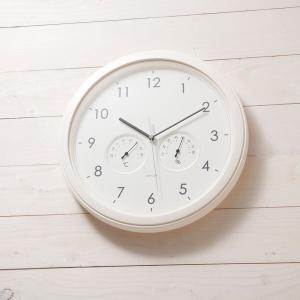 chronos/時計/掛け時計/温度・湿度計付/シンプル/アナログ KEYUCA(ケユカ)(特別価格)|keyuca