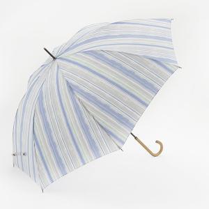 長傘 晴雨兼用傘 | 長傘 晴雨兼用 ウォーターストライプ ライトブルー KEYUCA(ケユカ)|keyuca