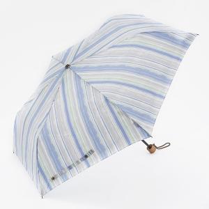 折りたたみ傘 晴雨兼用傘 | 折畳傘 晴雨兼用 ウォーターストライプ ライトブルー KEYUCA(ケユカ)|keyuca