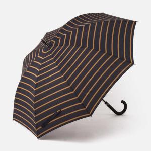 長傘 ジャンプ傘 | M 長傘 耐風 ボーダー ネイビーブルー KEYUCA(ケユカ)|keyuca