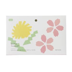 入浴剤 ギフト   バスタブレット サクラ&タンポポ KEYUCA(ケユカ) keyuca