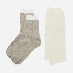 冷え取り靴下 重ね履き靴下 | N 絹とカノコ編み リネンソ...