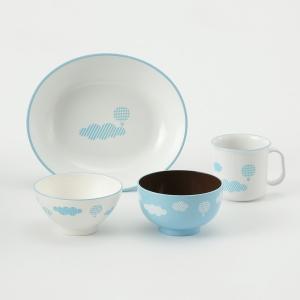 食器セット 子供   くもキッズ食器セット ブルー KEYUCA(ケユカ) keyuca