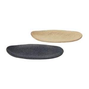 楕円形で盛りつけしやすく食卓になじむ和の縄文長盛シリーズ。 カラーによって表面に仕上がりが異なるので...